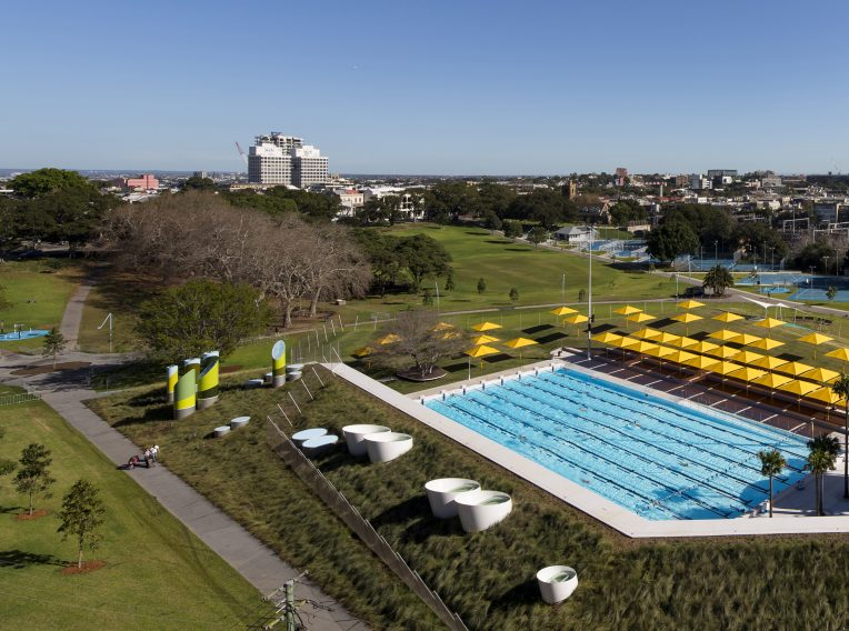 Evolving aesthetics - Prince Alfred Park pool aerial view